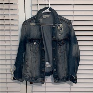 Band of Gypsys distressed jean jacket Sz XS